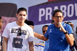 Duo Icon Milenial Al Ghazali Dan Cawapres Sandiaga Nyanyi Bareng Di Surabaya