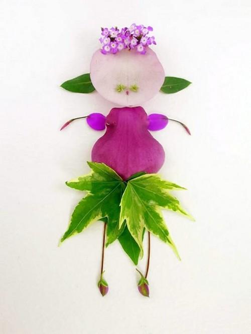 Những em bé được tạo hình từ Hoa - Lá - Cỏ