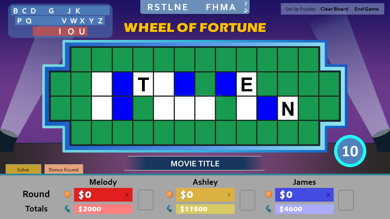 Wheel of Fortune for PowerPoint - Games by Tim WoFBonusRound4