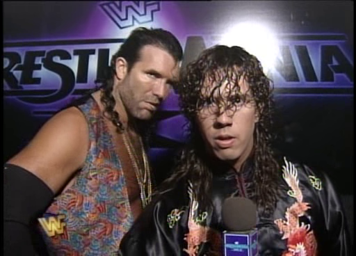 WWF / WWE: Wrestlemania 11 - 123 Kid and Razor Ramon prepare for Razor's Intercontinental title match against Jeff Jarrett