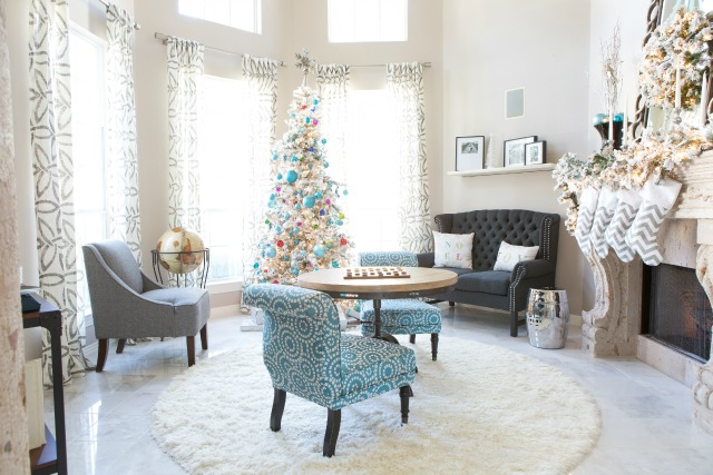 Our Jewel Toned Holiday Living Room | Design Improvised