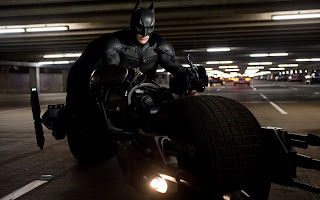 The Dark Knight Rises Batman on Batmobile HD Wallpaper