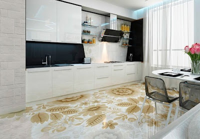 3d floor art for kitchen flooring