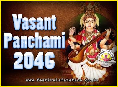 2046 Vasant Panchami Puja Date & Time, 2046 Vasant Panchami Calendar