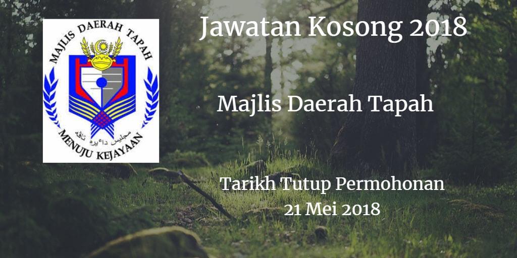 Jawatan Kosong MDTapah 21 Mei 2018
