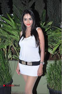 Actress Model Pooja Sri Stills in White Short Dress at F Club pre soft Launch  0039.JPG