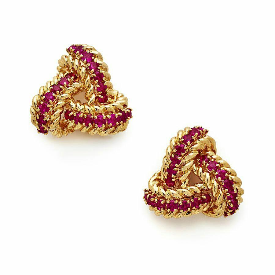 Pink Stone Stud Earrings
