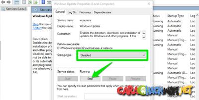 Langkah melakukan disable service pada windows 10
