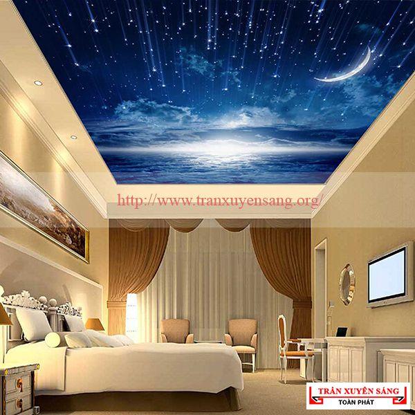 Mẫu trần phòng ngủ xuyên sáng 2