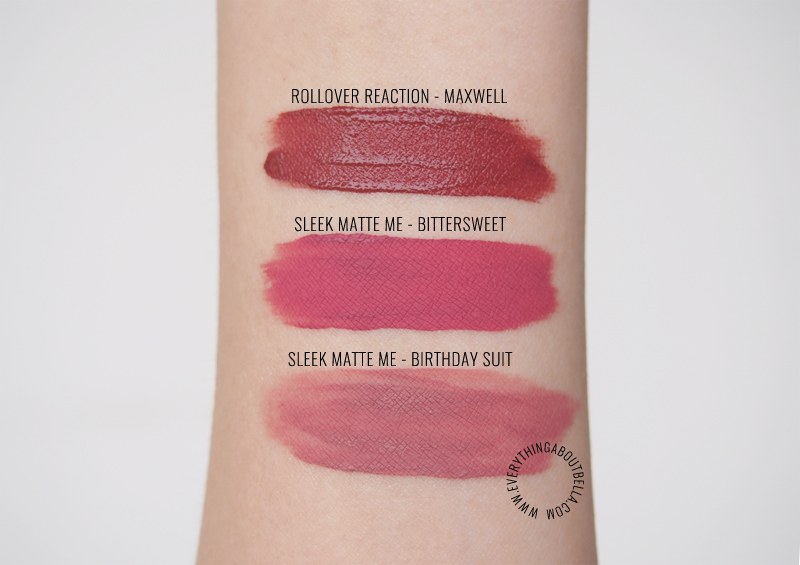 beauty blogger Indonesia - review sleek matte me birthday suit bittersweet rollover reaction maxwell