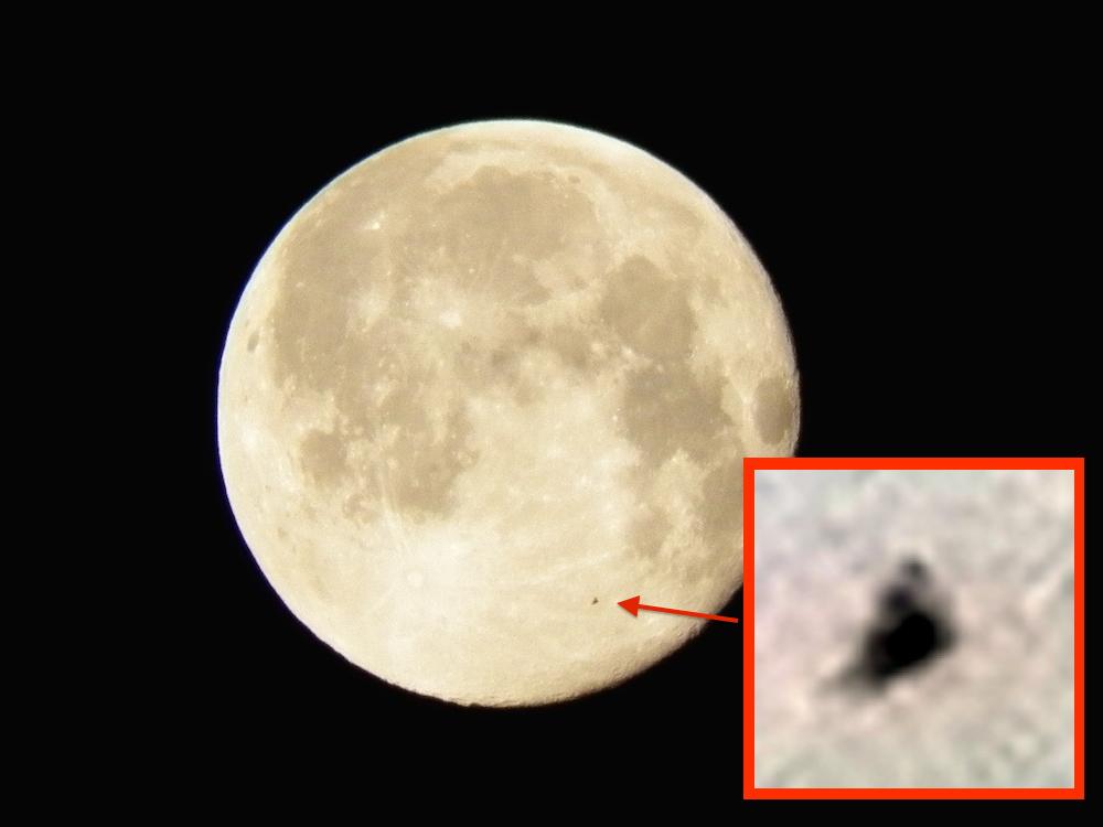 ufo sightings daily pyramid ufo flys past moon caught on camera