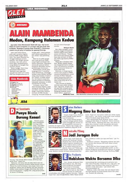 LIGA INDONESIA PROFIL BINTANG ALAIN MAMBENDA