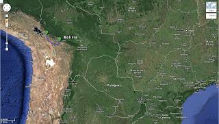 Trajeto de Quillacollo/Bolívia a La Paz/Bolívia - 360 km.