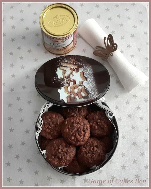 Caja de Cookies de Chocolate y Avena