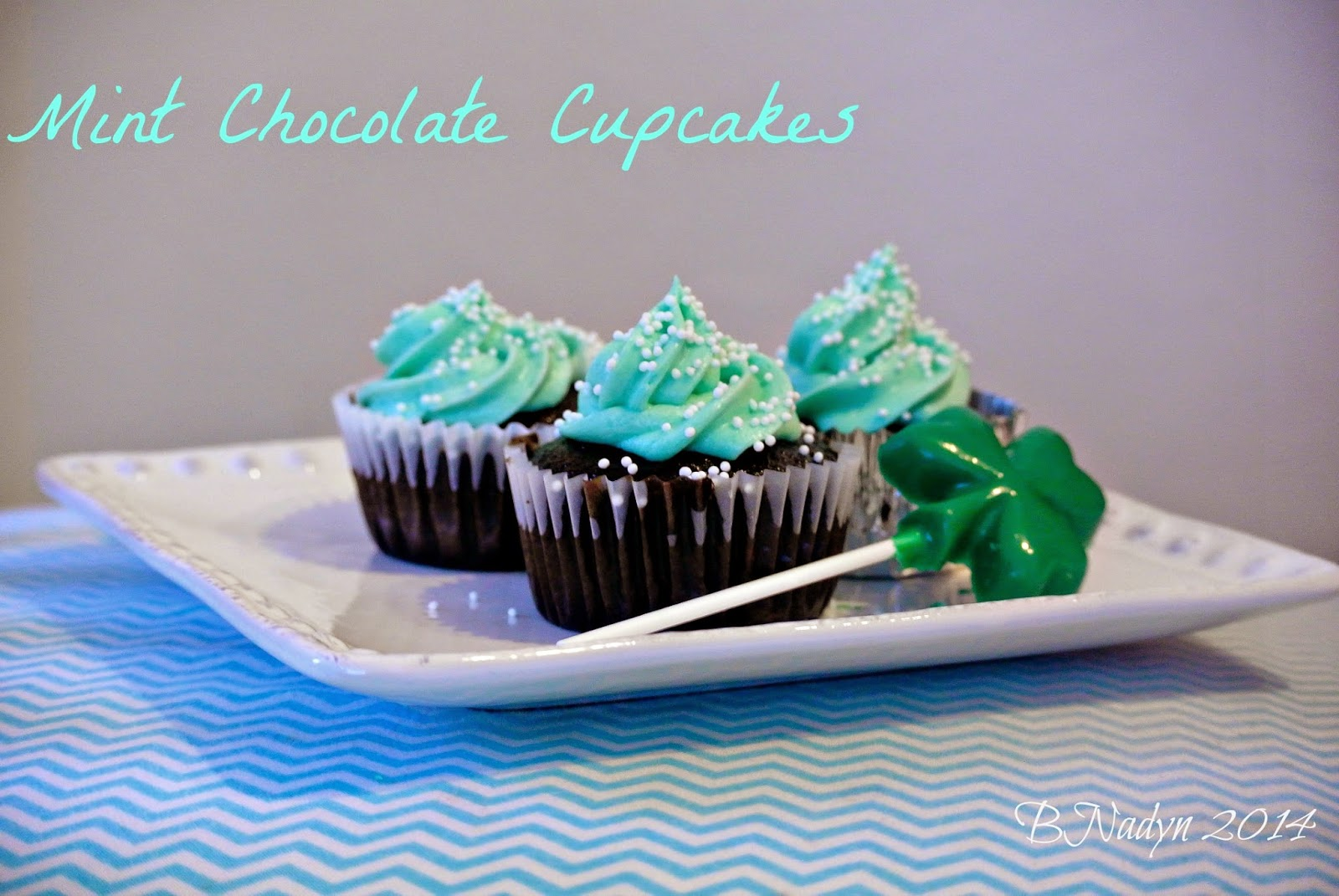 Mint chocolate, cupcakes, St. Patrick's Day