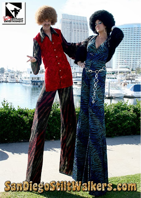 stilt walkers disco san diego los angeles