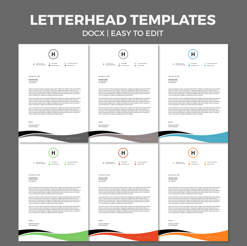 Free Corporate Business Letterhead Template