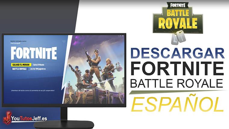 Como Descargar Fortnite Battle Royale para PC GRATIS ESPAÑOL - Facil y Rapido