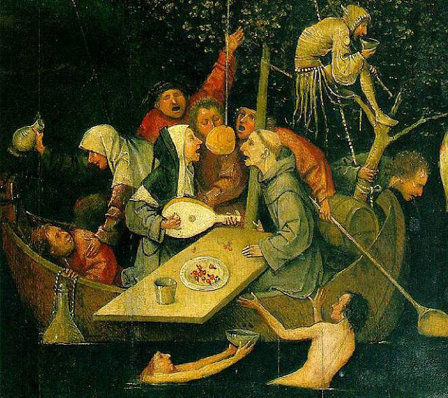 Ship of Fools by Hieronymus Bosch, 1490-1500