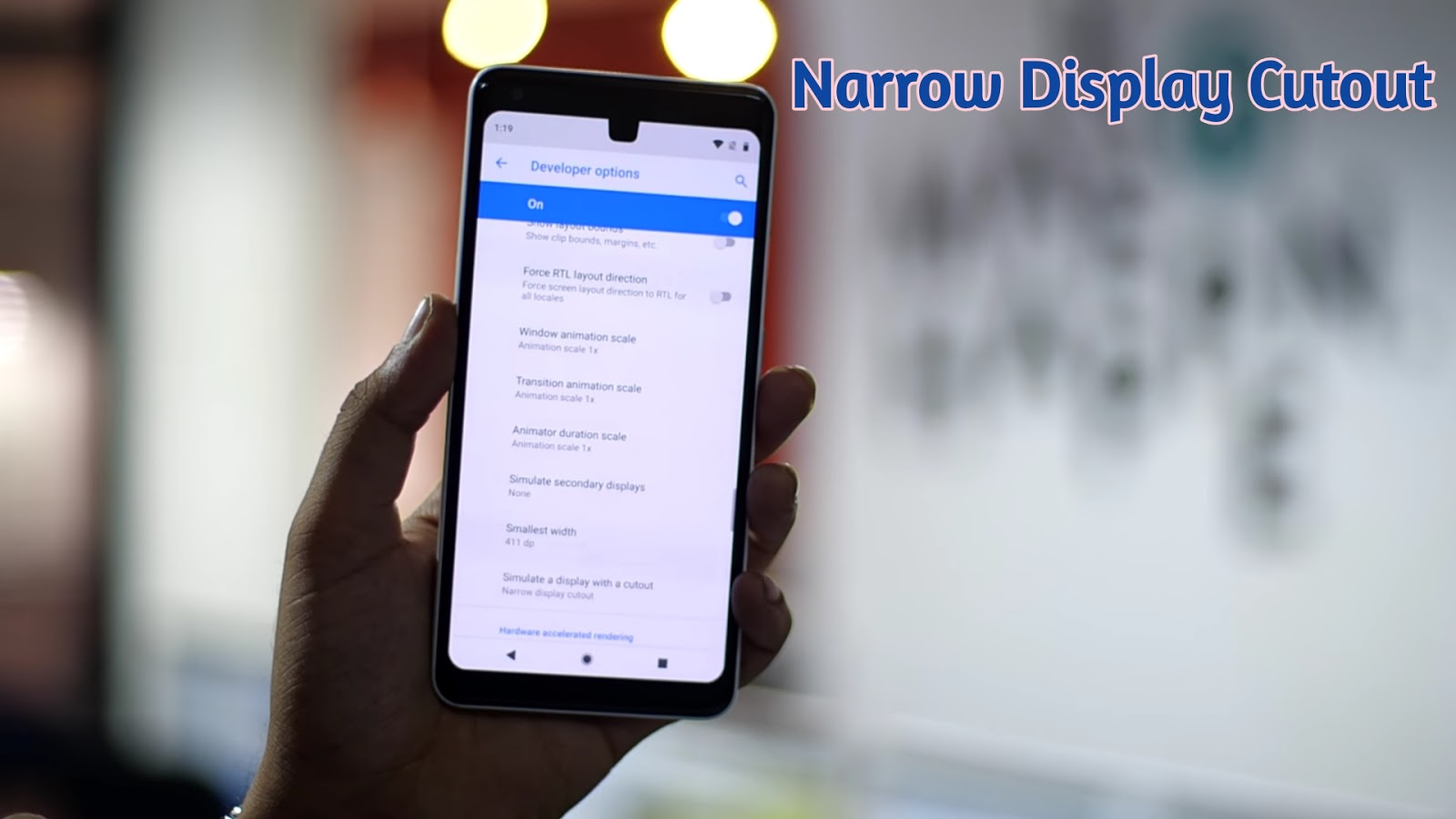 The narrow display cutout
