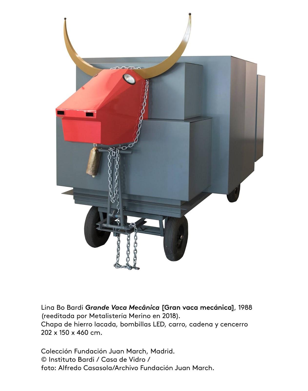 Resultado de imagen de gran vaca mecanica de Lina Bo Bardi