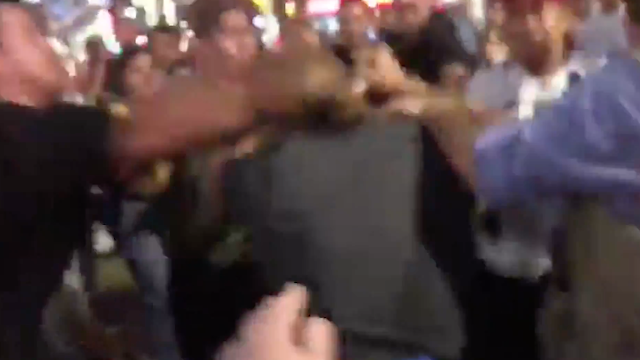 Fight Breaks out at Trump's Hollywood Walk of Fame Star
