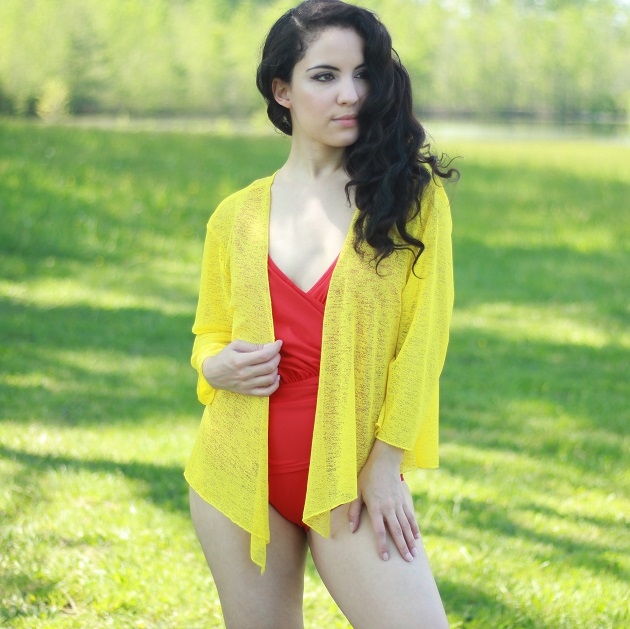 Yellow Swimsuit Cover