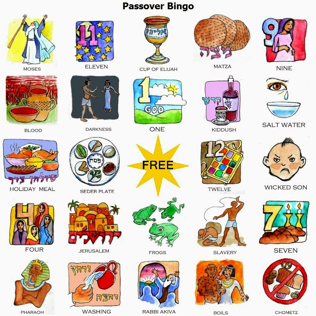 Daily Cheapskate: FREE downloadable full-color Passover Bingo Game ...