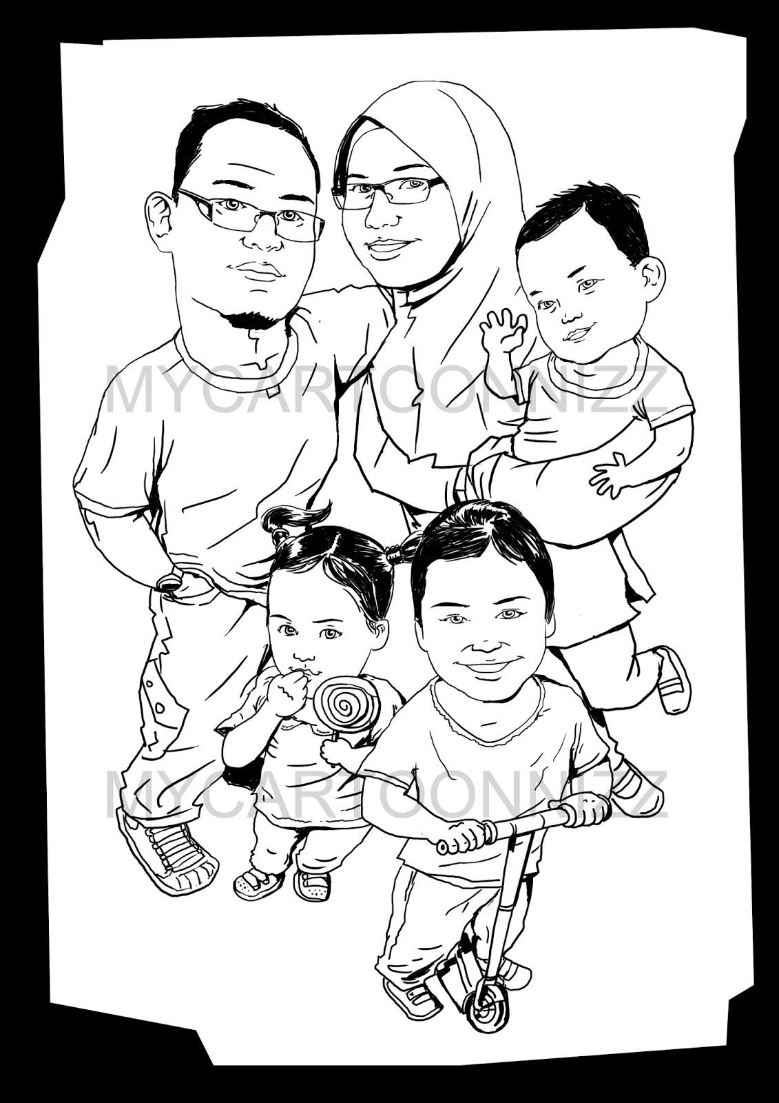 Mewarnai Gambar Keluarga Pewarna O