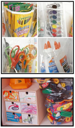 how to organize art supplies in the classroom clutter free classroom. Black Bedroom Furniture Sets. Home Design Ideas