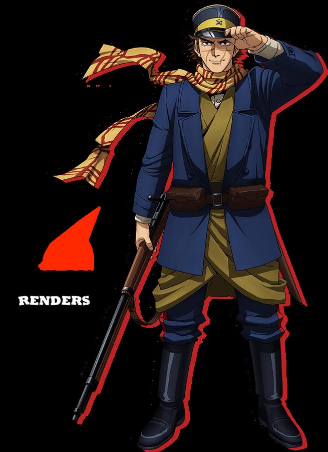 Render Saichi Sugimoto Goldem Kamuy