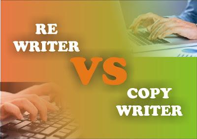 Perbedaan Rewrite dengan Copy Writer dalam dunia Blogger