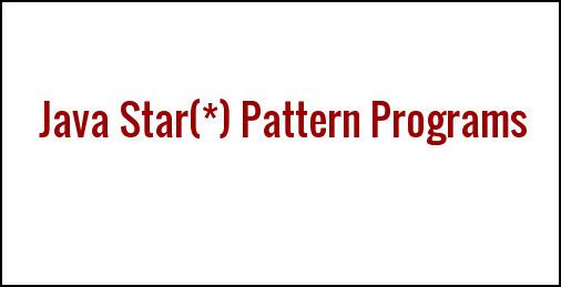 Star Pattern In Java