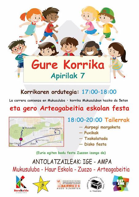 Cartel de la Korrika infantil del 7 de abril