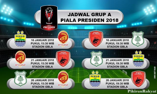 Jadwal Grup A Piala Presiden 2018 - Persib Bandung