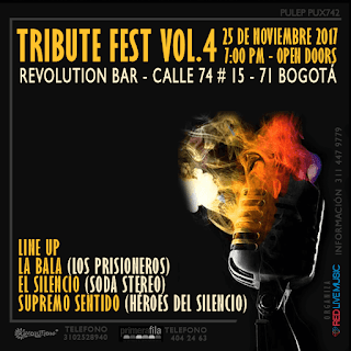 FESTIVAL DE TRIBUTOS ROCK Revolution Bar VOL.4