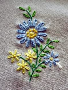 bordado ramo de flor