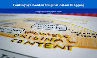 Pentingnya Konten Original dalam Blogging