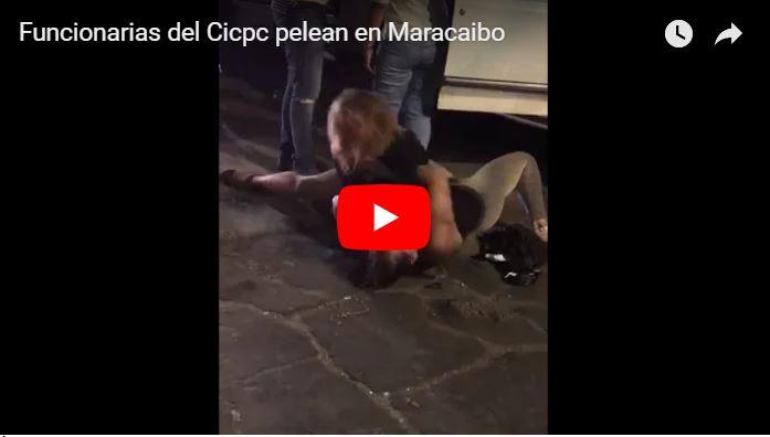Dos funcionarias del CICPC se jalaron de los pelos al salir de la discoteca