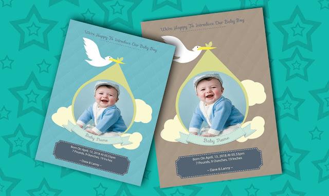 بطاقات اعلان ميلاد الاطفل