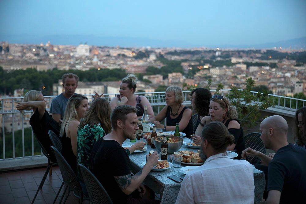 Rooma, kesä, kaupunki, valokuvaus, Visualaddict, Rome, photography, Frida Steiner, valokuvaaja, Rome, streetphotography, Villa Lante, behind the scenes, dinner, illallinen, scenery, landscape
