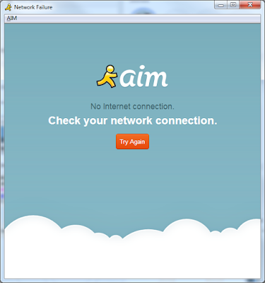 AIM AOL Instant Messenger discontinued December 15 2017 network failure no Internet connection