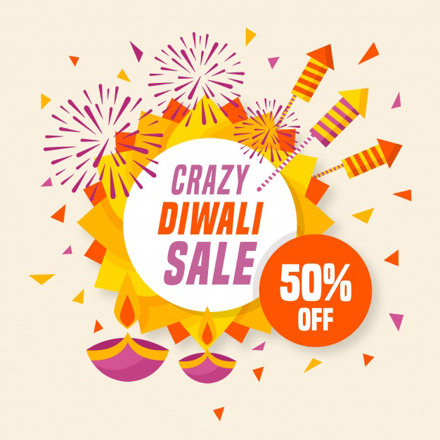 Beautiful Diwali Greeting cards for sales and marketing 50% off