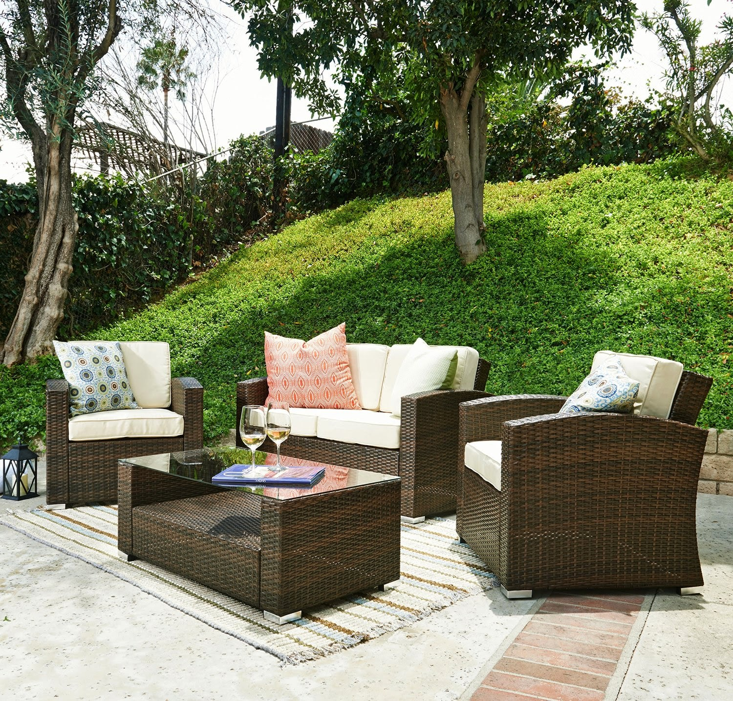 discount special sale off 58 for outdoor furniture sofa 4pcs luxury patio set outdoor patio. Black Bedroom Furniture Sets. Home Design Ideas