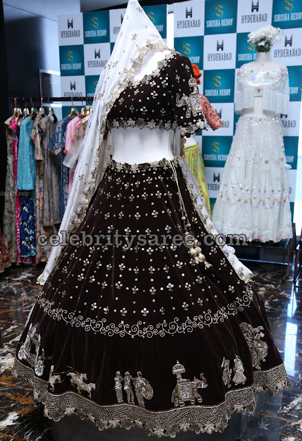 Designer Black Lehenga with Elephant Design