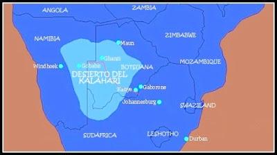 desierto kalahari map