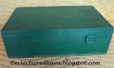 Eclectic Red Barn: Green Wine Box