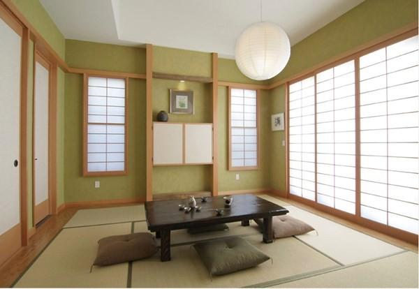 Thiết kế nội thất kiểu Nhật - Phòng sinh hoạt chung đơn giản, mộc mạc