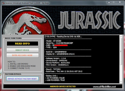 Jurassic Android Tool V5.0.3 Full And Free Download Free