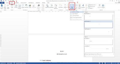 cara membuat nomor halaman berbeda di word 2013
